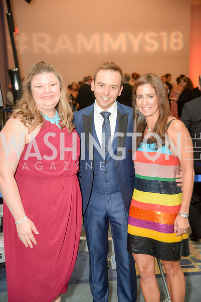 Jen Richer, Tommy McFly, Kelly Collis,  The 36th Annual RAMMY Awards, Washington Convention Center, June 10th, 2018.  Photo by Ben Droz.