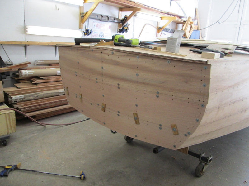 New transom planks fit.