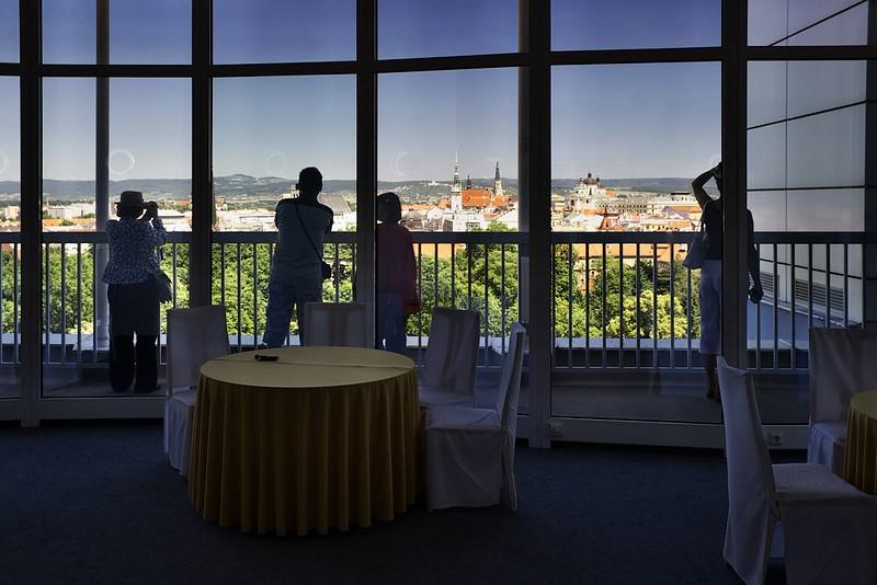 Z vyhlídky hotelu Flora byl asi nejlepší výhled na centrum Olomouce