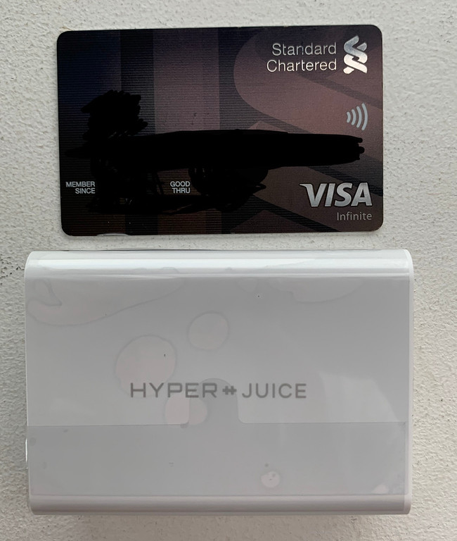 Hyperjuice vs a credit card