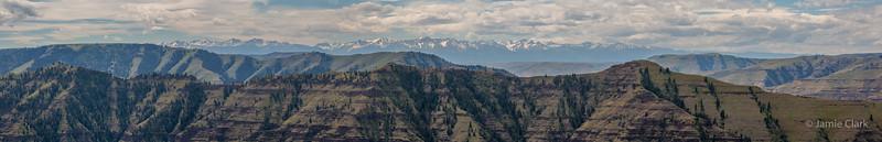 Top of Imnaha Canyon, with Wallowa mountain range behind. IMnaha, Oregon