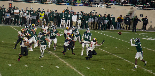 Maryland at MSU football 2019