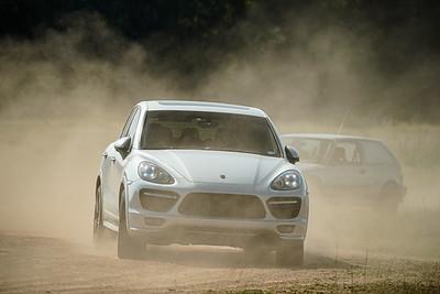 Silver Porsche Cayenne