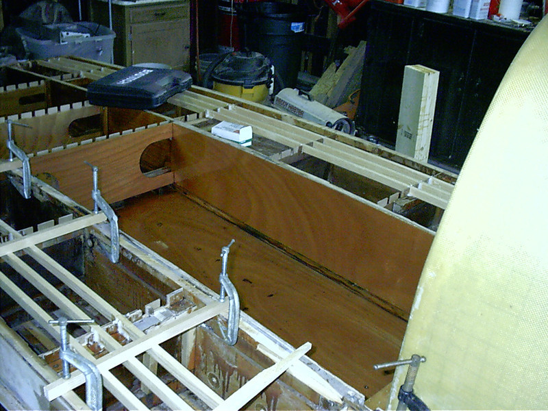View of engine room from the starboard side.
