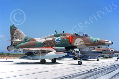 Israeli Air Force Douglas A-4 Skyhawk Attack Jet Military Airplane Pictures for Sale