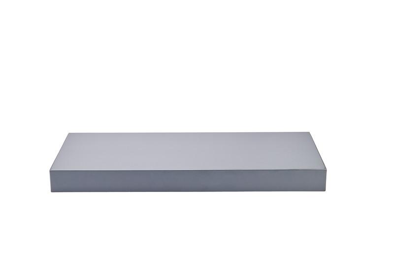 600mm x 250mm x 51mm Floating Shelf, Grey