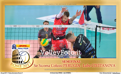 «Sir Sicoma Colussi PERUGIA - Lube CIVITANOVA» Semi-Final #CLF4Rome