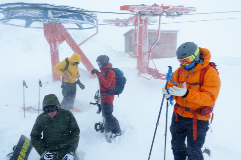 Transition in 100kmh+ gusting winds. Day 3