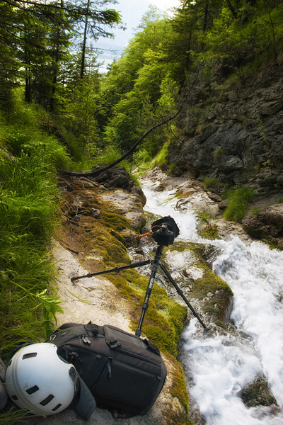/ https://flic.kr/p/27HjXog I had to be very careful with my gear; if something had fallen into the (highspeed) brook, I would never have seen it again.
