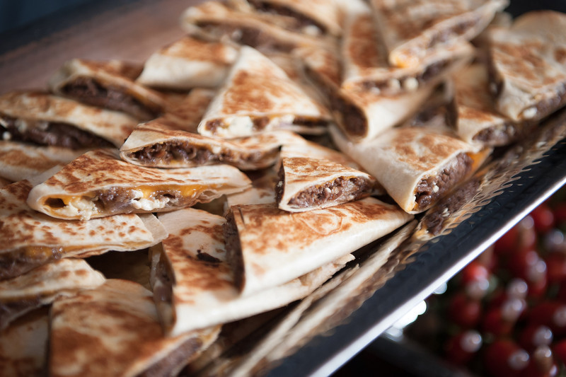 Steak, Gorgonzola and Caramelized Red Onion Quesadillas