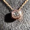 .77ct Old Mine Cut Rose Gold Bezel Pendant 9