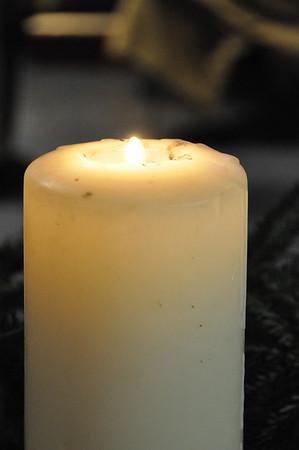 Candles & Pointsettias