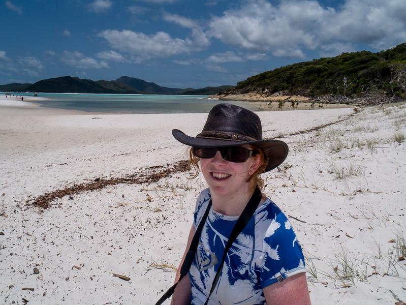 Kris on the beach