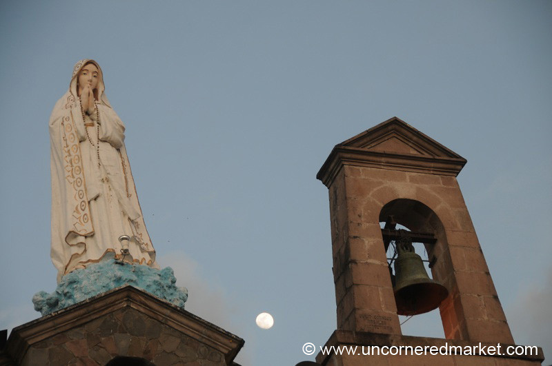 Mary, Moon and the Bell Tower - Ibarra, Ecuador