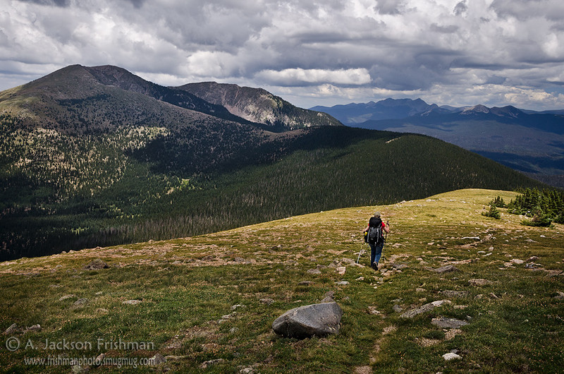 Hiking the Skyline Trail in New Mexico's Pecos Wilderness, July 2012.