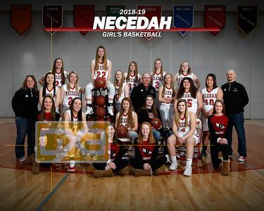 Necedah girls' basketball GBB1819