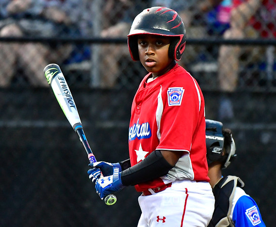 8/10/2019 Mike Orazzi | Staff New York-Haverstraw Little League's Jaden Quezada (20) during Saturday's Mid Atlantic Final baseball game with New York at Breen Field in Bristol, Conn.