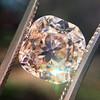 4.03ct Light Fancy Brown Antique Cushion Cut Diamond Halo Ring GIA LFB, SI1 56