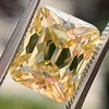 5.35ct Fancy Brownish Yellow Emerald Cut Diamond, GIA SI2 0