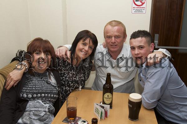 Charity Night in aid of Macmillan Nurses in the Armagh Down Bar on Saturday last. Margaret Mc Sloy,Shelia Pentony,Charlie Pentony,Kevin Byrne.10W45N704