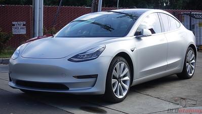 Tesla Model 3 - Stealth Metallic Silver 2