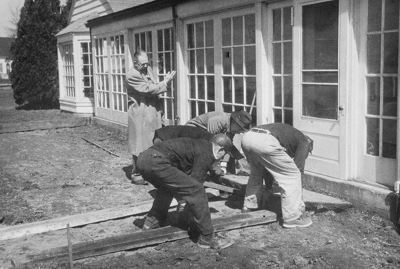 1939 Commodore L. Harry Stoner Supervising Walk Construction