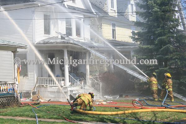 4/21/13 - Lansing house fire, 1112 W. Ottawa St
