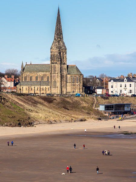 Tynemouth Longsands and St George's Church