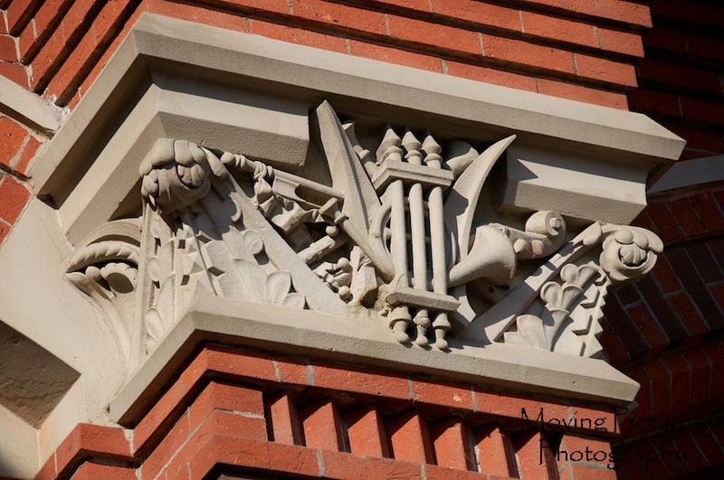 Music Hall - Architectural detail featuring musical use of building