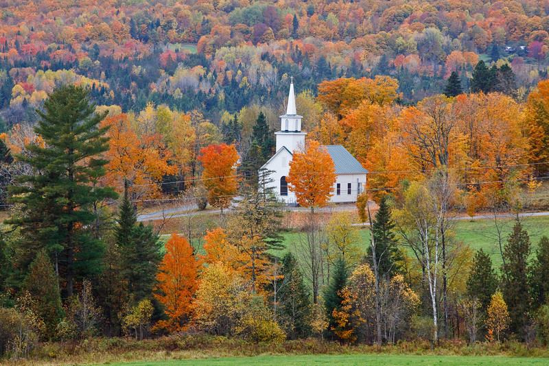 A steepled church near Burke, in the Northeast Kingdom