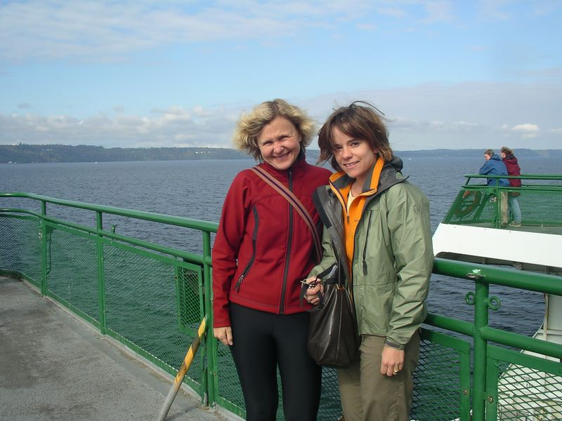 We decide to hop on the ferry and see if we can catch up with Joni and Mona at Third Beach! They don't know we're coming, but we'll see if we can surprise them.