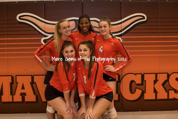 2019 Mauldin Senior night volleyball