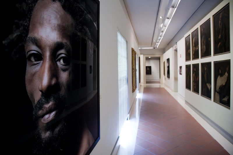 Photograph by Pierre Gonnord in a temporary exhibition, Fine Arts Museum, Seville, Spain