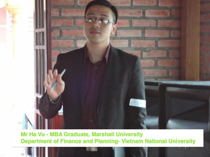 US Training HN-Mr Ha Vu VNU.JPG