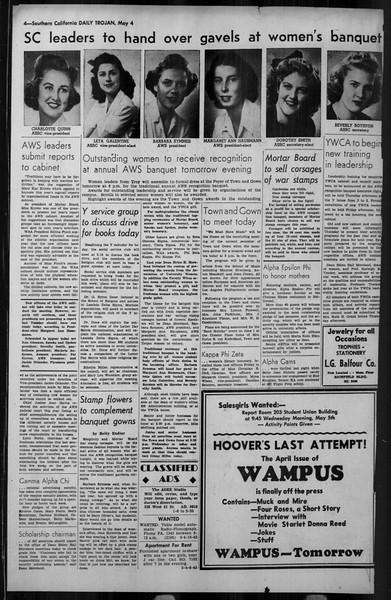 Daily Trojan, Vol. 34, No. 139, May 04, 1943