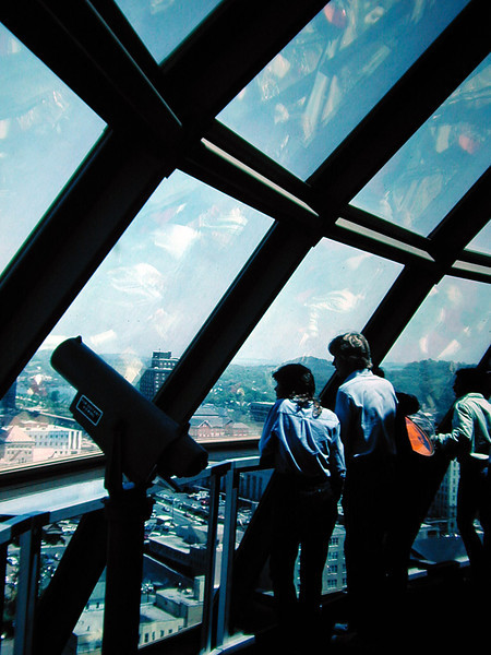 Visitors atop the Sunsphere