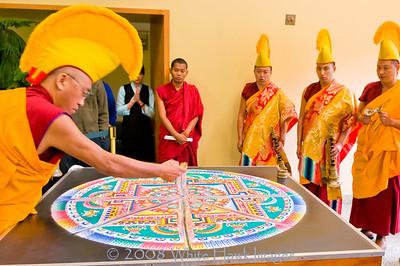 Tibetan Monks Create Sacred Sand Mandala