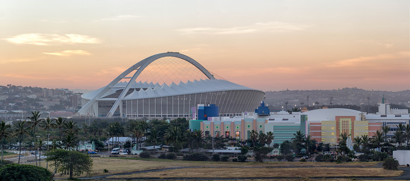 Moses Mabhida Stadium  at sunset