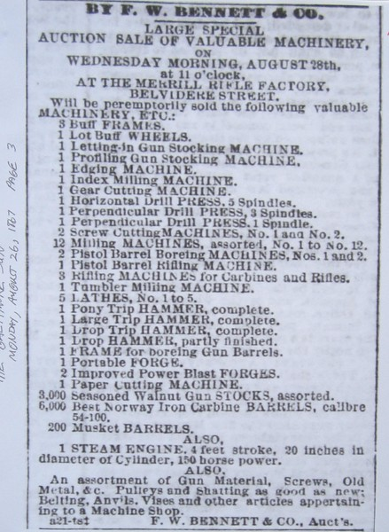 1867.08.26 The Baltimore Sun Auction Ad Aug 26, 1867.JPG