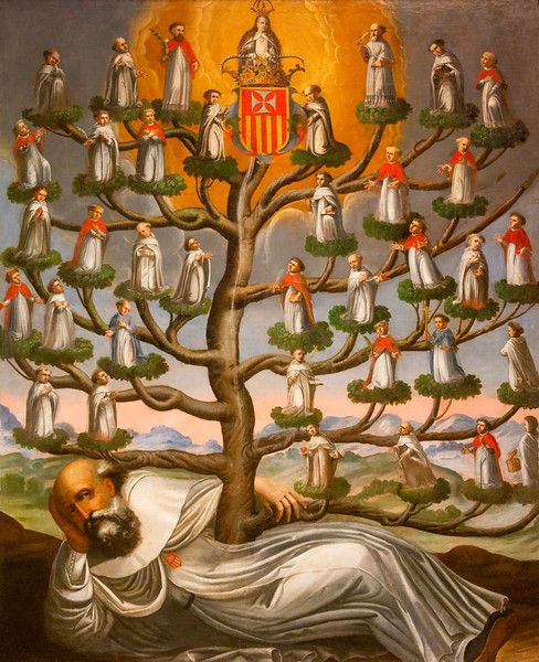 Genealogical Tree of the Mercedarian Order, anonymous, Bolivia