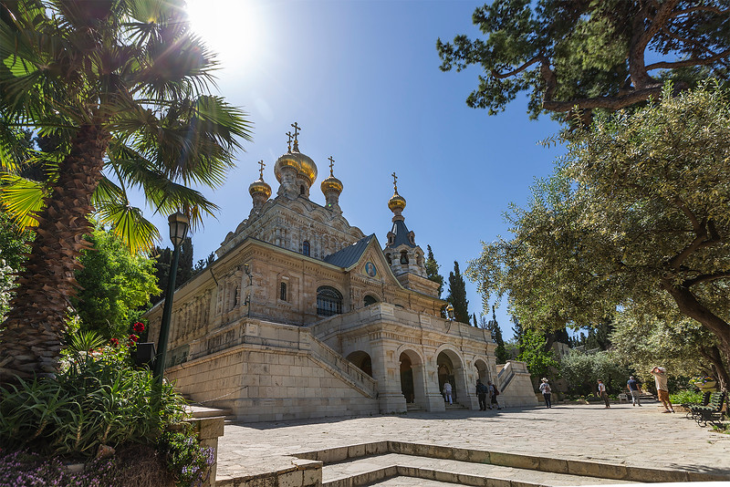 The Church of Mary Magdalene is a Russian Orthodox church located on the Mount of Olives, near the Garden of Gethsemane.  The church was built in 1886 by Tsar Alexander III to honor his mother.  The church is dedicated to Mary Magdalene, the companion of Jesus.