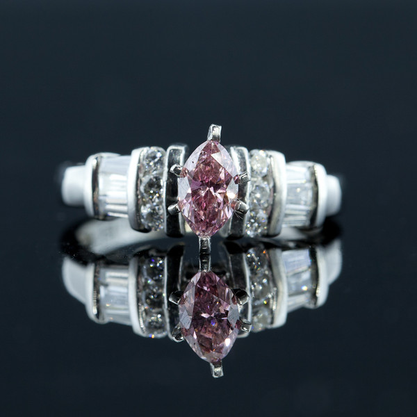 Marquee Pink Diamond Platinum ring