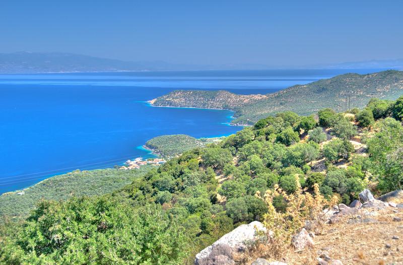 Cape Koracas, Lesvos, Greece. Turkey in the background.
