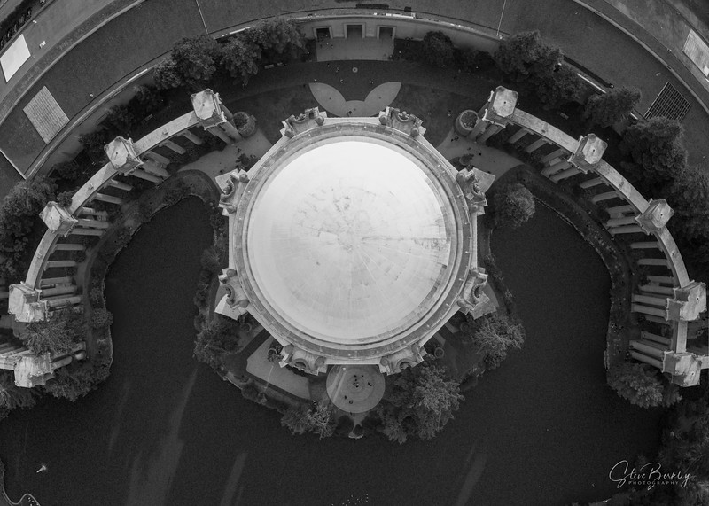 Above the Palace of Fine Arts