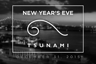 NYE at Tsunami 12/31/15