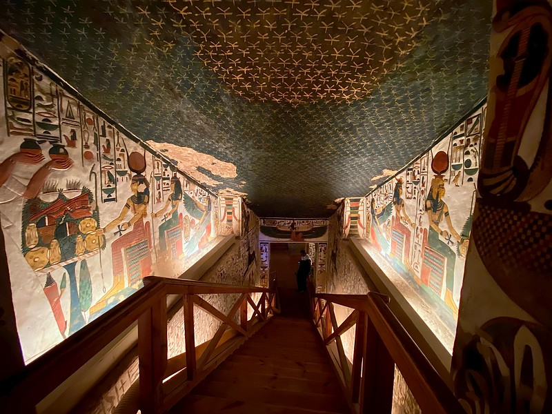Nefertari's Tomb - Valley of the Queens Queen Nefertari (c. 1295–1256 BC) was one of the wives of Rameses II and her tomb is hailed as one of the finest in all of Egypt