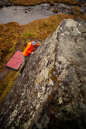 Fall Bouldering in the Rain