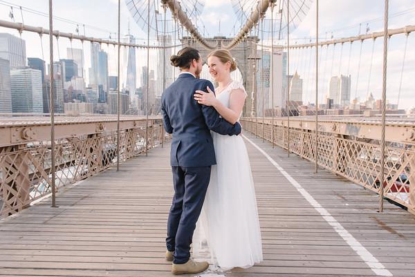 Eric Brooklyn Bridge Elopement