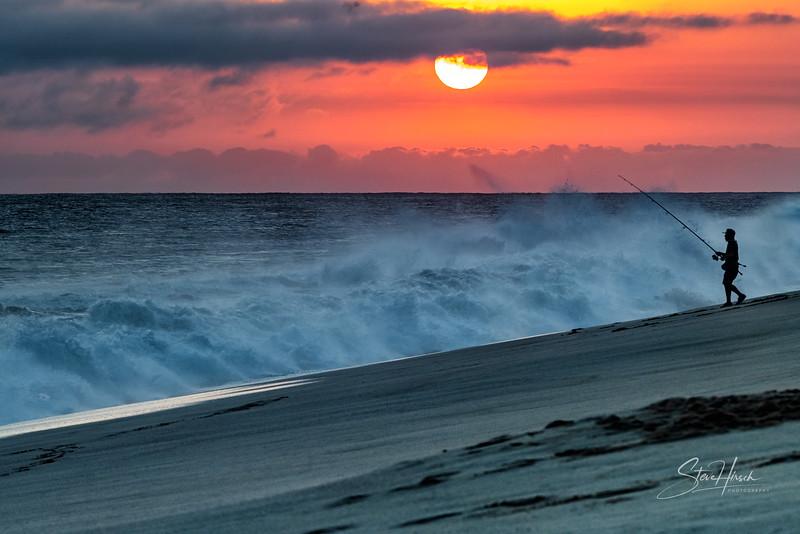 Cabo sunset fisherman