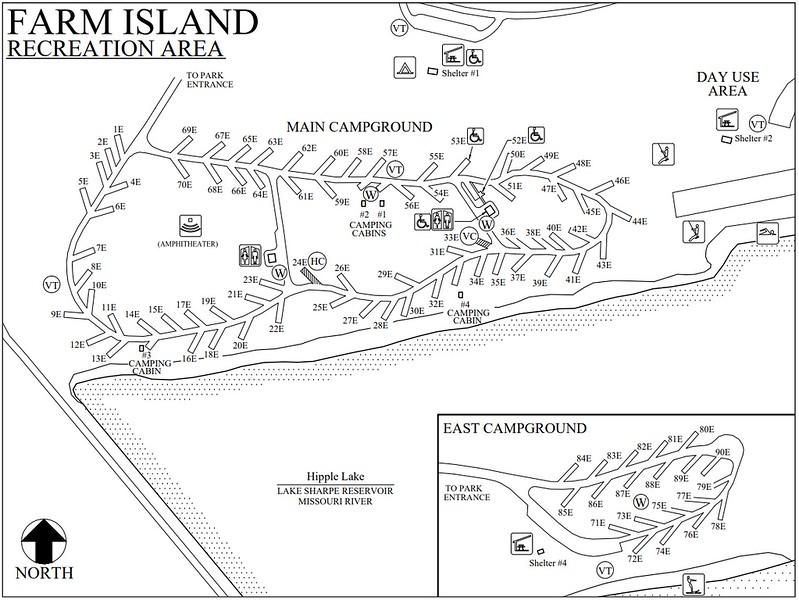 Farm Island Recreation Area (Campground Map)